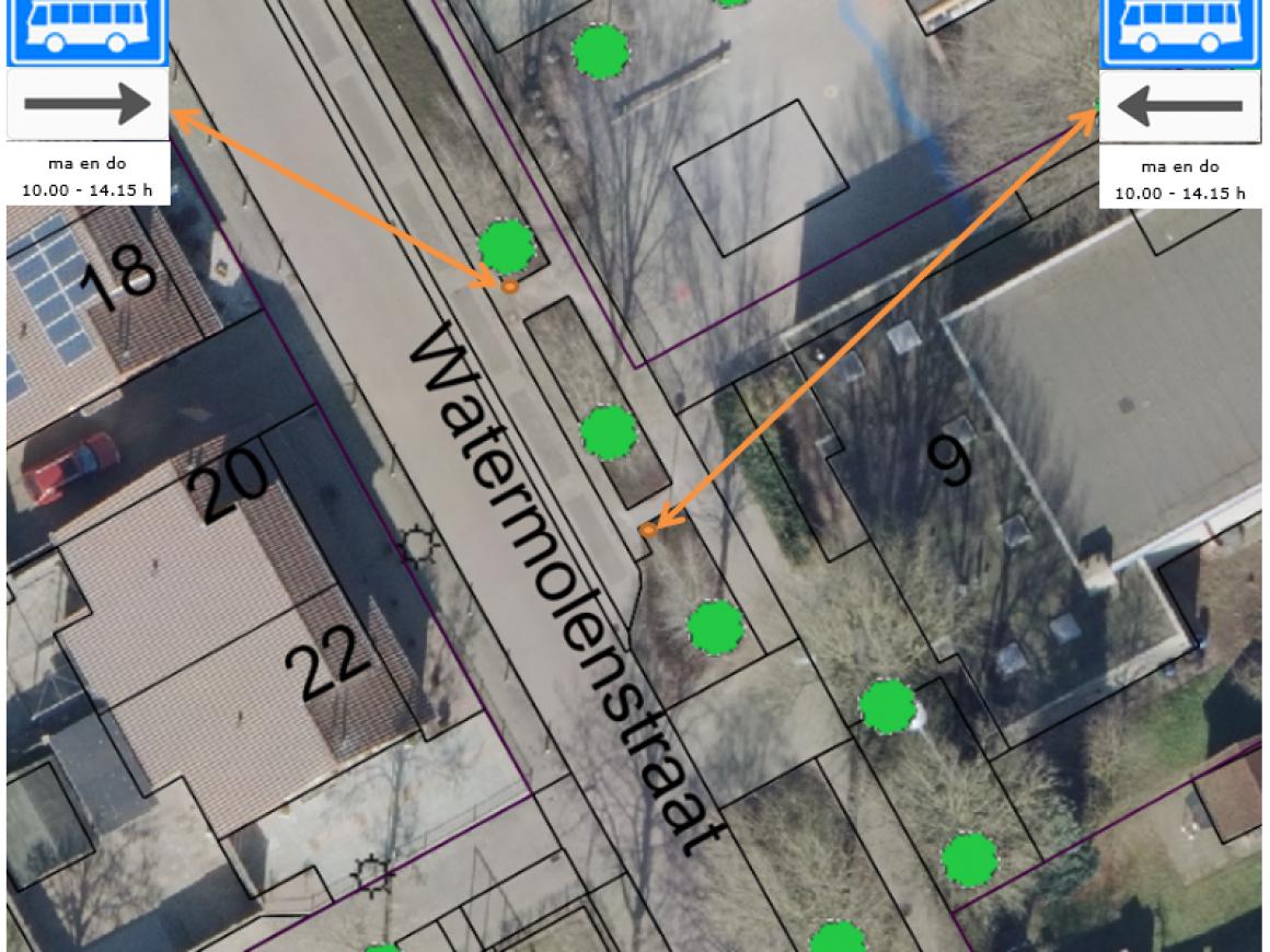 Oostrum: Bushalte schoolbus – aanpassing parkeervakken Watermolenstraat